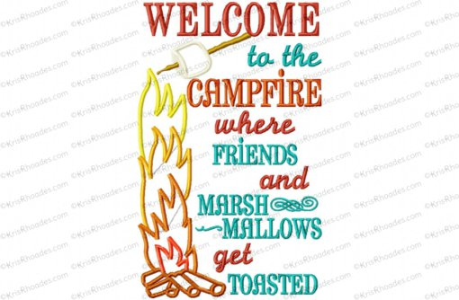 Welcome to the Campfire Applique Embroidery Design