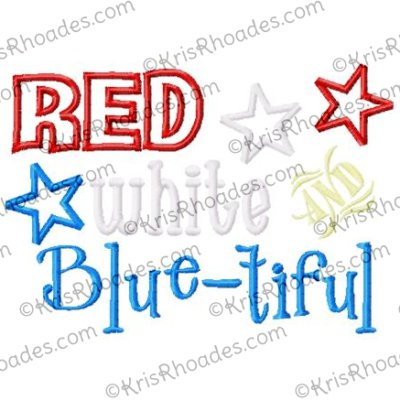 red white and blue-tiful