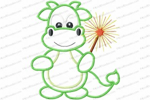 dragon boy with sparkler 6x10