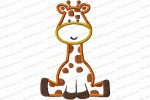 giraffe 5 inch applique