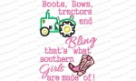 boots bows tractors and bling 5x7