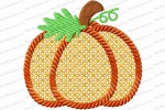 pumpkin 3 inch lace fill rope outline