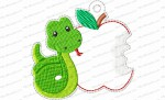 apple and snake ornament