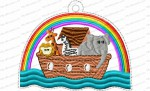 ark and rainbow ornament