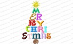merry christmas fonts 5x7