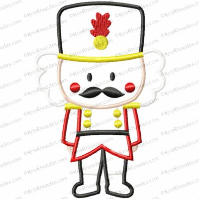 Nutcracker Applique Embroidery Design