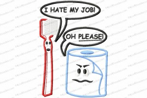 hate my job toothbrush 5x7