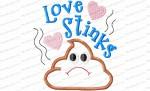 love stinks applique tp