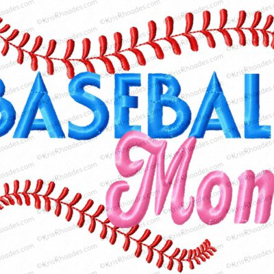 Baseball Mom Dad Sis Bro Embroidery Design
