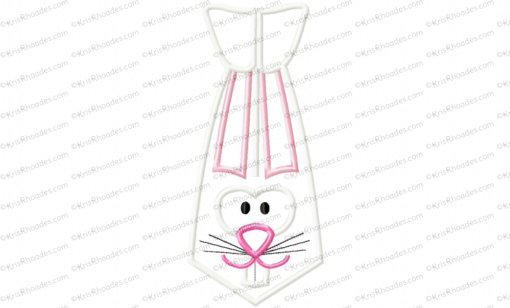 Bunny Instant Tie Applique Embroidery Design