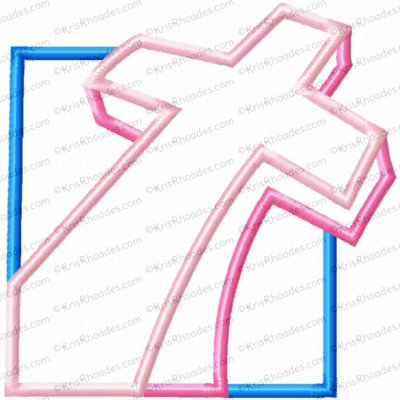 Cross in Square Applique Embroidery Design