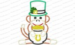 leprechaun sock monkey 5x7