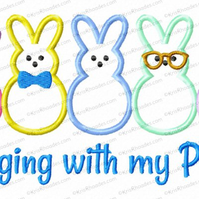 Hanging with My Peeps Applique Embroidery Design