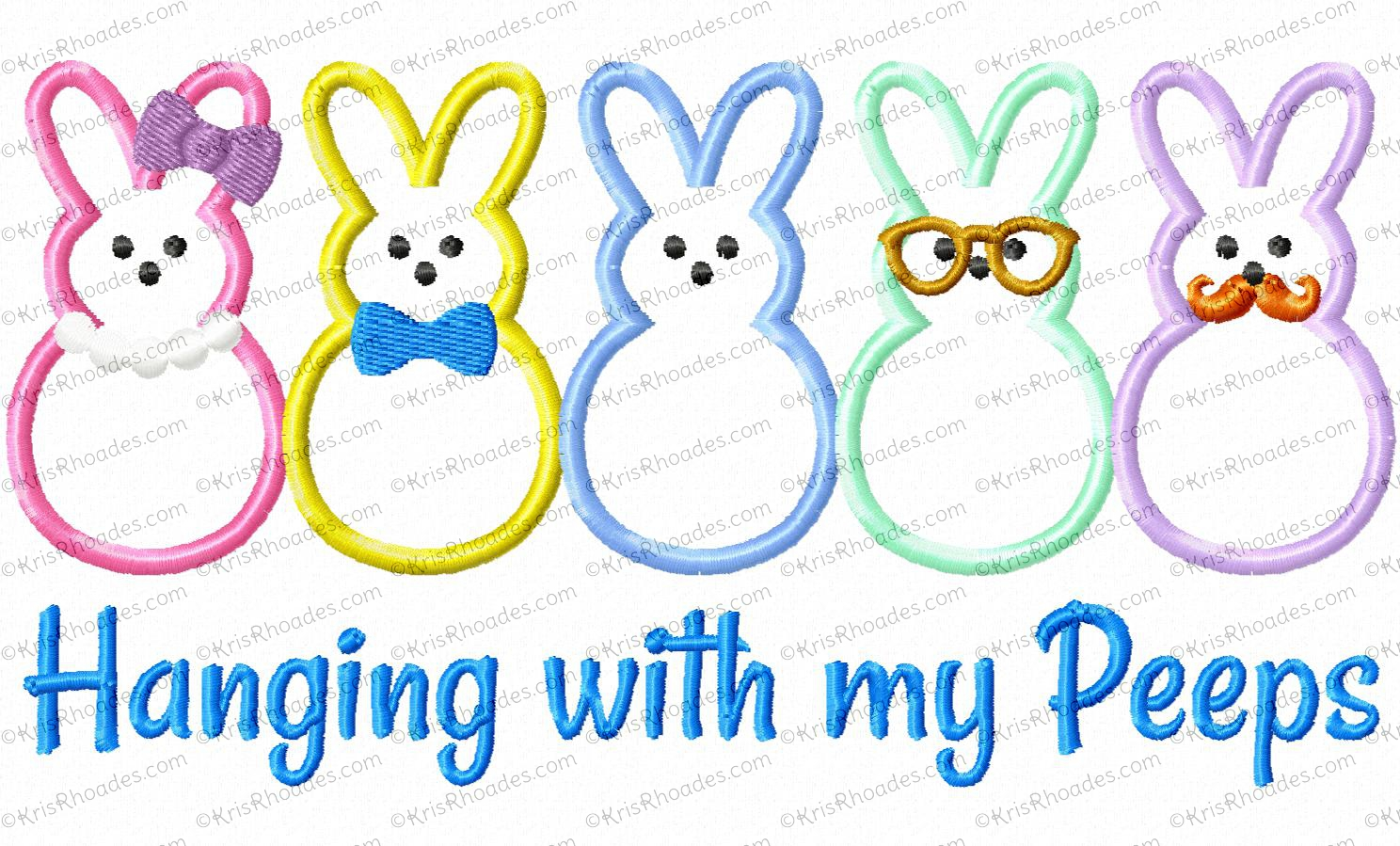 Hangin With My Peeps Embroidery Design