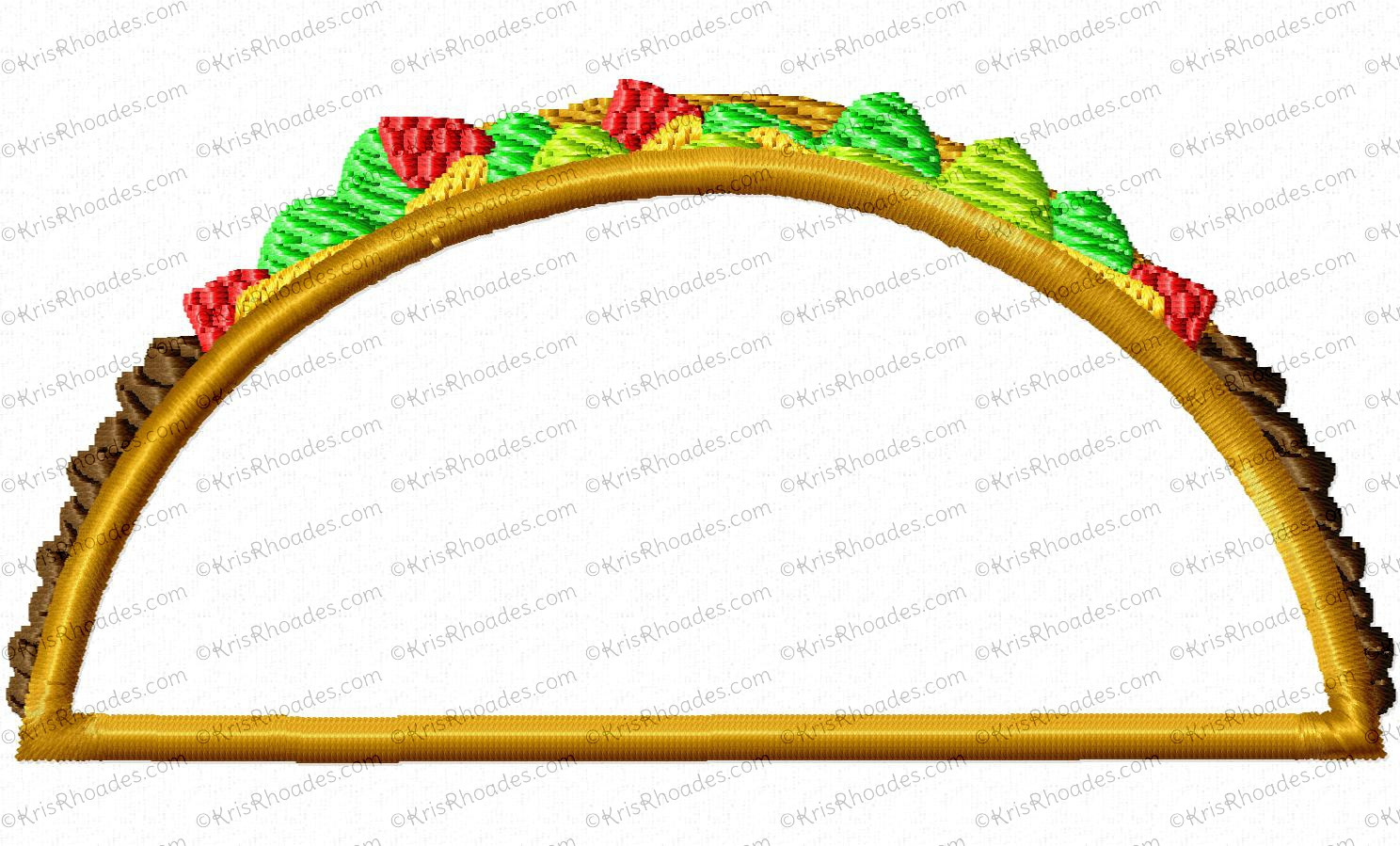 Embroidery Design Taco