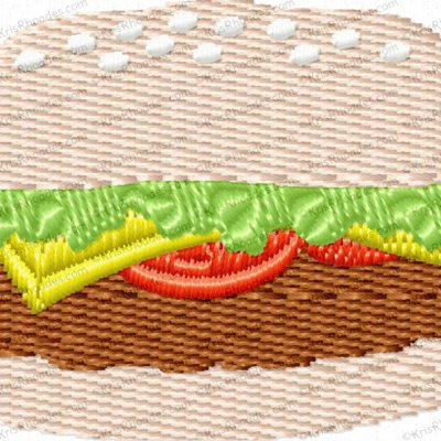 Hamburger Applique and Mini Filled Bundle Embroidery Design