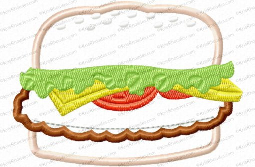 hamburger applique 4x4