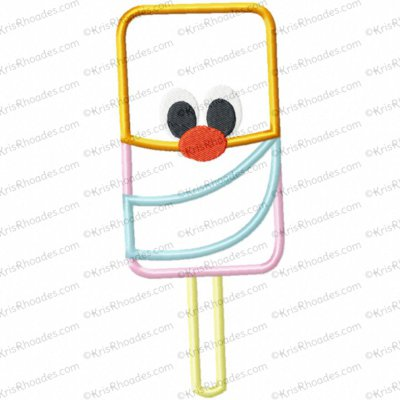 Pushpop Ice Cream Treat Applique Embroidery Design