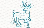 christmas reindeer outline 10 5x7