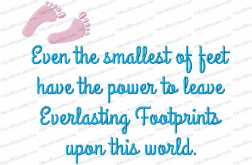 everlasting footprints 8x12