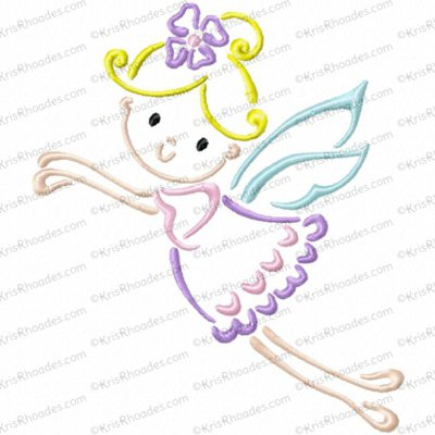 Fairy Outline Embroidery Design