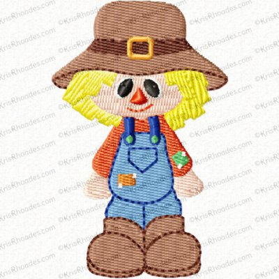 Scarecrow Mini Filled Embroidery Design