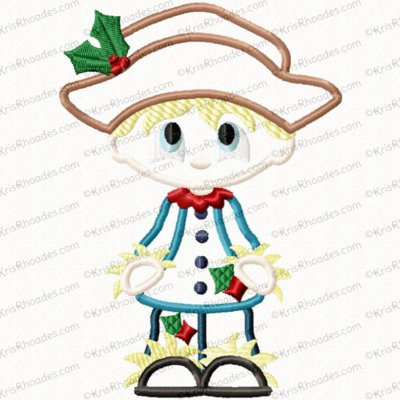 Christmas in Oz - Scarecrow Applique Embroidery Design