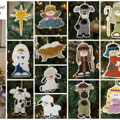 Nativity Set of 22 Complete Applique Embroidery Designs