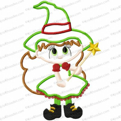 Christmas in Oz - Bad Witch Applique Embroidery Design