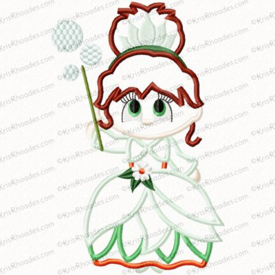Christmas in Oz - Good Witch Applique Embroidery Design