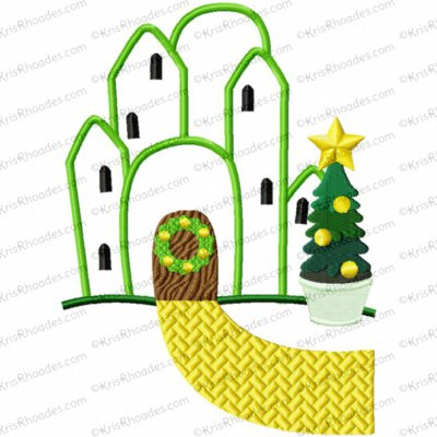 Christmas in Oz - Emerald City Applique Embroidery Design