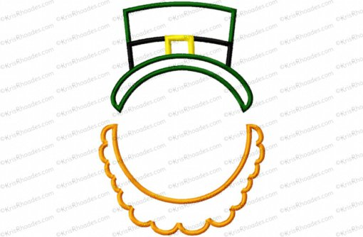 Leprechaun Monogram Topper Frame Embroidery Design