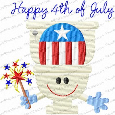 Happy 4th of July Toilet Paper Embroidery Design