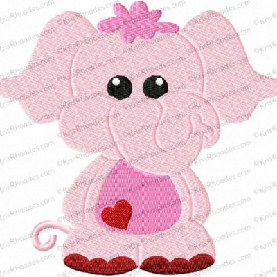 Full Body Elephant Filled Embroidery Design