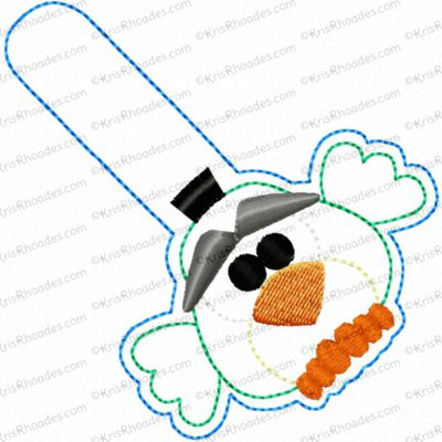 Round Bird 4.1 SnapTab/Keyfob Embroidery Design