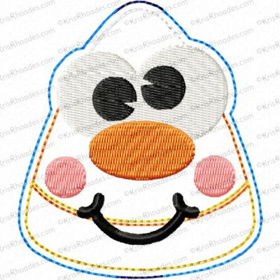 Candy Corn Face Headband Slider Embroidery Design
