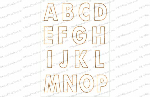 Feltie Alphabet Outline Embroidery Design
