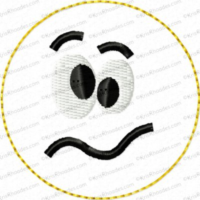 Feltie Smiley Emoji Emoticons Embroidery Design