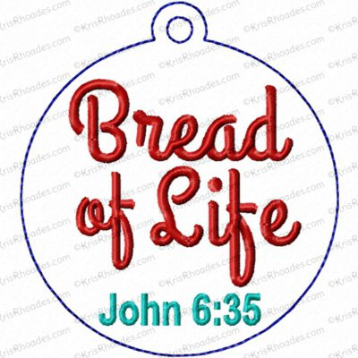 Bread of Life Ornament Embroidery Design
