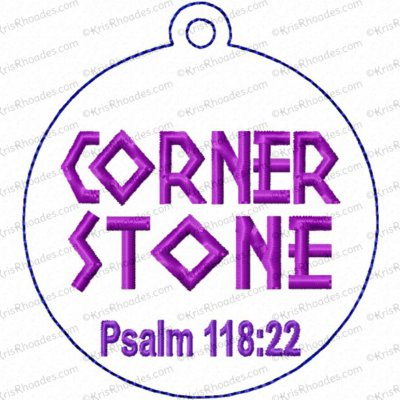 Cornerstone Ornament Embroidery Design