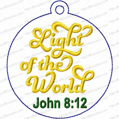 Light of the World Ornament Embroidery Design