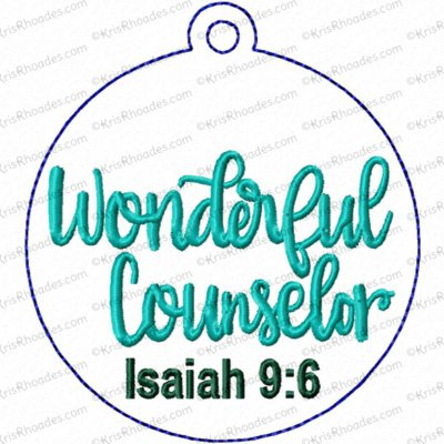 Wonderful Counselor Ornament Embroidery Design