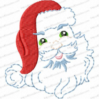 Vintage Santa Face Toilet Paper Embroidery Design