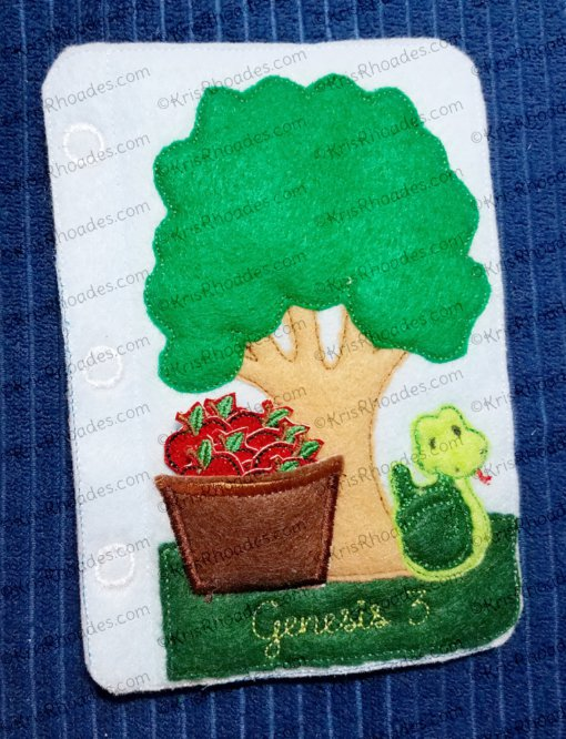 Quiet Book Bible Page 34 - Adam and Eve Embroidery Design Bundle