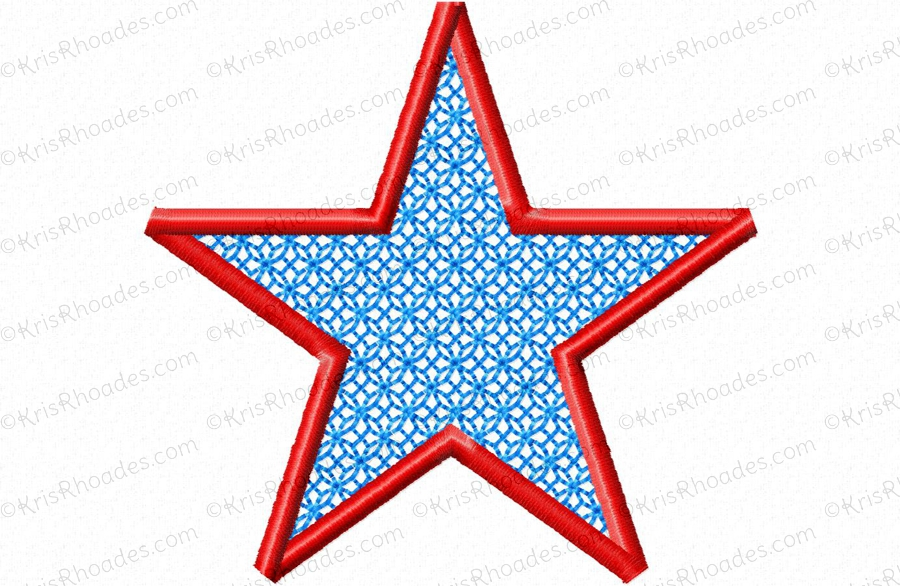 Simple Star For Mylar Applique Embroidery Design Kris Rhoades