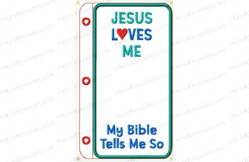 Quiet Book Bible Page 36 - Bible Cover 4x4