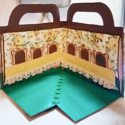 Quiet Book Dollhouse - 6x10 Dining Room Embroidery Design