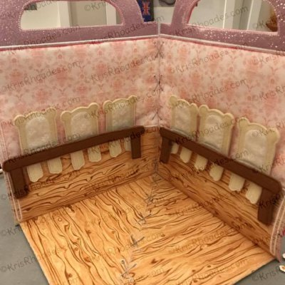 Quiet Book Dollhouse - 8x8 Dining Room Embroidery Design