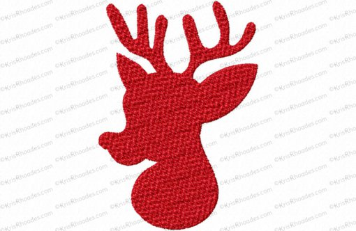 Deer Silhouette 3 Applique Embroidery Design