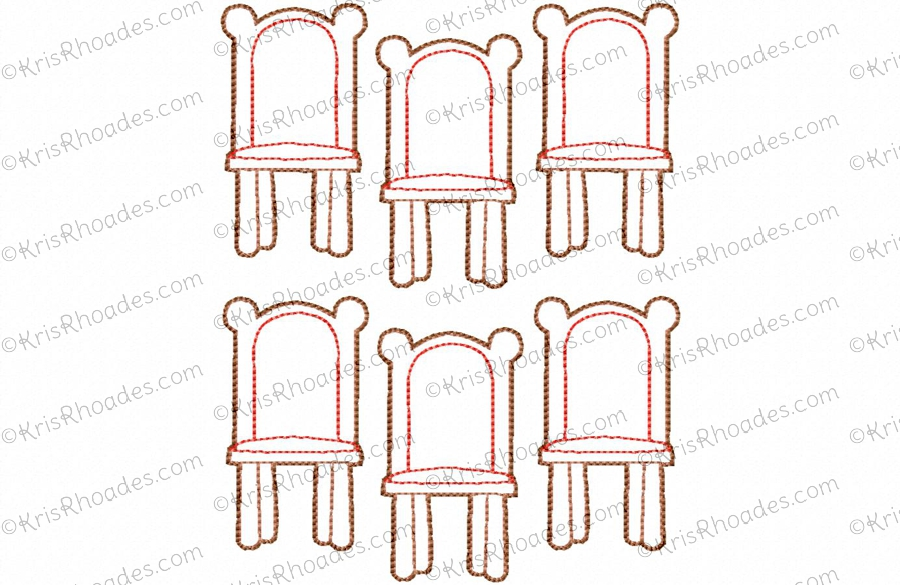 Quiet book dollhouse 6x10 dining room embroidery design for 8x8 dining room